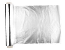 metalltextur för aluminum folie Arkivbilder