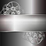 Metalltextur med kugghjulet vektor illustrationer