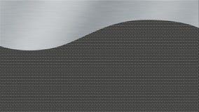 Metalltexturbakgrund med borstat vävde stål och mörk metall Royaltyfri Fotografi