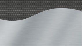 Metalltexturbakgrund med borstat vävde stål och mörk metall Royaltyfri Bild