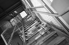 Metalltreppenhaus Lizenzfreies Stockfoto
