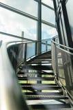 Metalltreppenhaus Lizenzfreie Stockfotos