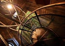 Metalltreppenhaus in Prag Stockfotografie