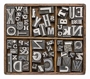 Metalltyp Alphabet Lizenzfreies Stockbild