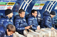 Metallurg substitutes players Stock Images