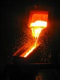 Metallurgia che fonde processo tecnologico fotografia stock