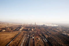 Metallurgic factory. Air picture of metallurgic factory royalty free stock image