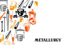 Metallurgical background design. Stock Images