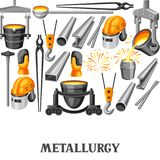 Metallurgical background design. Industrial items and equipment Stock Photo
