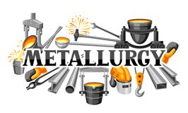 Metallurgical background design. Industrial items and equipment Royalty Free Stock Photo