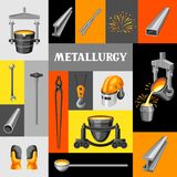 Metallurgical background design. Industrial items and equipment Royalty Free Stock Image