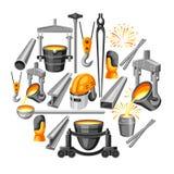Metallurgical bakgrundsdesign royaltyfri illustrationer