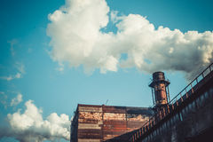 A metallurgical industrial complex. Royalty Free Stock Images