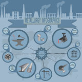 Metallurgical industry info graphics Stock Image