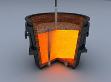Metallurgical ladle furnace Stock Photography