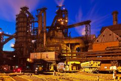 Metallurgical plant Stock Photos