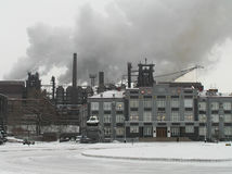 Metallurgical plant. In Siberia Stock Photos