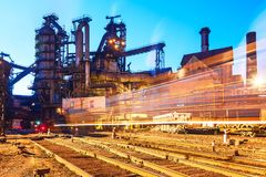 Metallurgical plant Stock Image