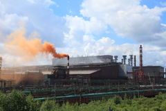 Metallurgical plant Royalty Free Stock Image