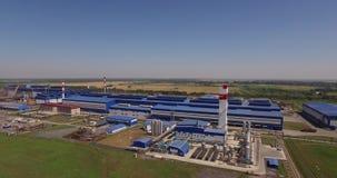 Metallurgical plant stock footage
