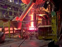 Metallurgical plant, industrial production process Royalty Free Stock Photography