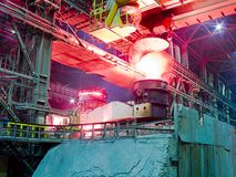 Metallurgical plant, industrial production process Stock Photos