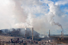 Metallurgical plant polluting the atmosphere Stock Image