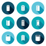 Metallurgical products Icons Set. Vector Illustration. Royalty Free Stock Photos