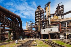Metallurgical works Royalty Free Stock Photos