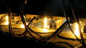 Metallurgical works stock video footage