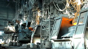 Metallurgical works stock video