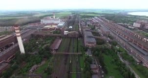 metallurgie Verarbeitungsanlage der Ferrolegierungen stock video footage