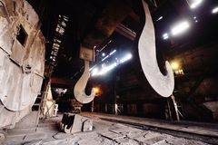 Metallurgisch installatiebinnenland Royalty-vrije Stock Afbeeldingen
