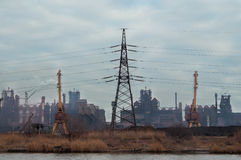 Metallurgische Anlage Azovstal Stockfotos