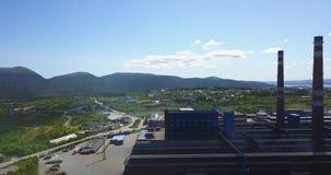 Metallurgische Betriebsaluminiumvogelperspektive Stockbilder