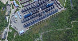 Metallurgische Betriebsaluminiumvogelperspektive Lizenzfreie Stockfotos