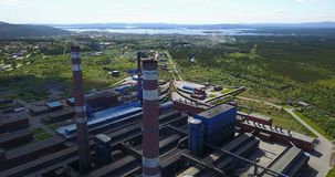 Metallurgische Betriebsaluminiumvogelperspektive Lizenzfreies Stockbild