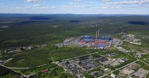 Metallurgische Betriebsaluminiumvogelperspektive Lizenzfreies Stockfoto