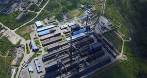 Metallurgische Betriebsaluminiumvogelperspektive Stockbild