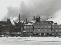 Metallurgische installatie Stock Foto's