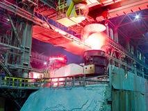 Metallurgische installatie, industriële productieproces Stock Foto's