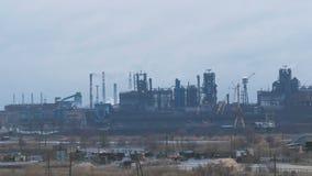 Metallurgische Mähdrescher Azovstal-Ansicht stock footage