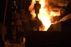 Metallurgy. Ferrous metallurgy, manufacture of pig-iron Stock Images