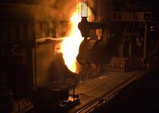 Metallurgy. Ferrous metallurgy, manufacture of pig-iron Stock Photos