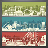 Metallurgy banners Stock Images