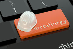 Metallurgy  concept on keyboard button Royalty Free Stock Image