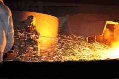 Metallurgy, domain production Royalty Free Stock Photos