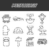 Metallurgy icon set. Vector Illustration.  Icons collection on white background for design Stock Image