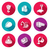 Metallurgy Icons Set. Vector Illustration. Royalty Free Stock Photos
