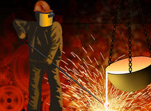 Metallurgy and the industry Stock Photos